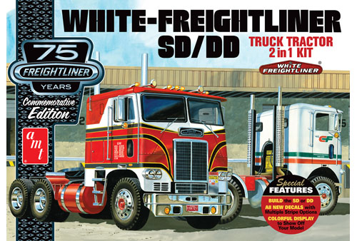AMT 1046 1/25 White Freightliner 2-in-1 SC/DD Cabover Tractor (75th Anniversary)