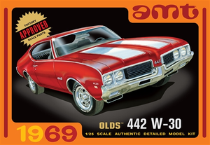 AMT 1105 1/25 1969 Olds 442 W-30 Plastic Model Kit