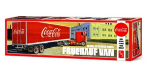 AMT 1109 1/25 Fruehauf Beaded Van Semi Trailer (Coca-Cola) Plastic Model Kit