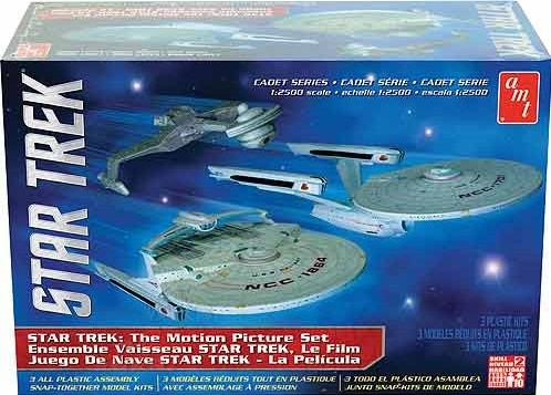 AMT 762L 1/2500 Star Trek Cadet Series The Motion Picture - 3 ship set