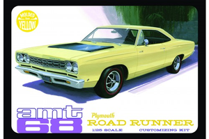 AMT 849 1/25 1968 Plymouth Roadrunner - Yellow