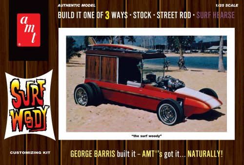 AMT 977 1/25 George Barris Surf Woody (Color Version)