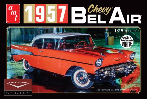 AMT 983 1/25 Cindy Lewis Car Culture 1957 Chevy Bel Air with Diorama and Photo Booklet (White)