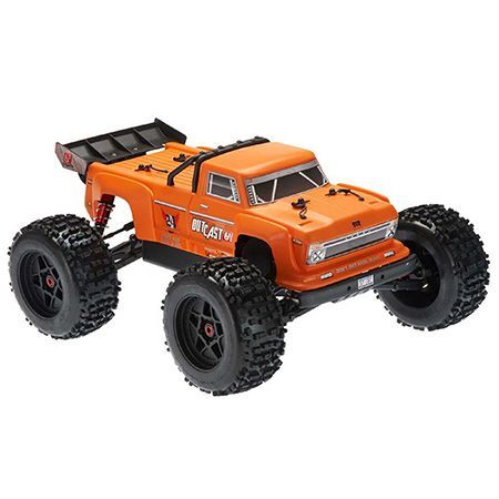Arrma Outcast Stunt Truck, 2019 Spec, 6S BLX, RTR, Orange