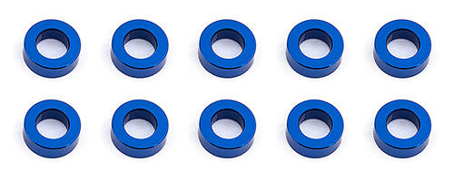 team associated Ballstud Washers, 5.5x2.0 mm, blue aluminum