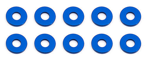 team associated Bulkhead Washers, 7.8x1.0 mm, blue aluminum
