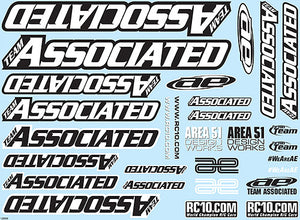 Team Associated 2016 Team Associated Decal Sheet