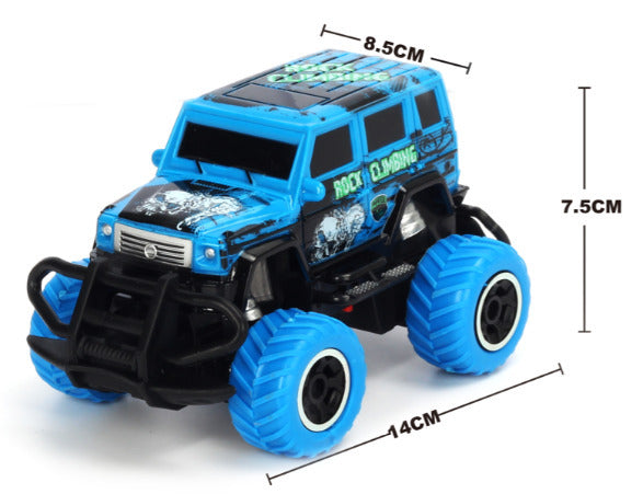 1:43 Scale 4 channel RC Blue RTR car Body, (Requires AA Batteries)