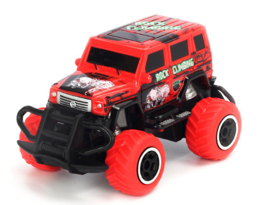 1:43 Scale 4 channel RC RTR car Red Body, (Requires AA Batteries)