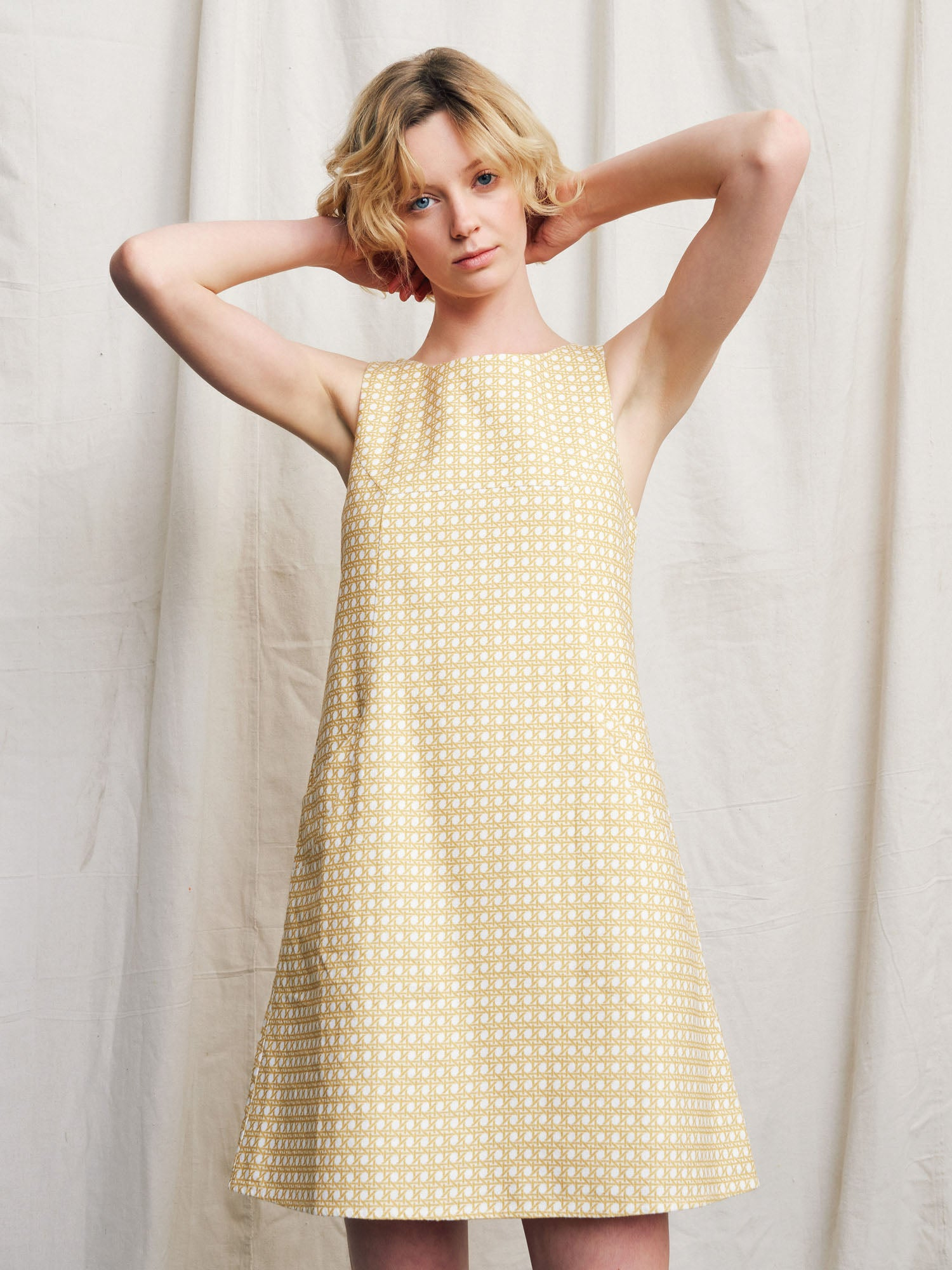 Luna Linen Dress Wicker