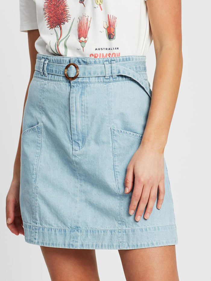 The Chloe Denim Skirt by RYDER