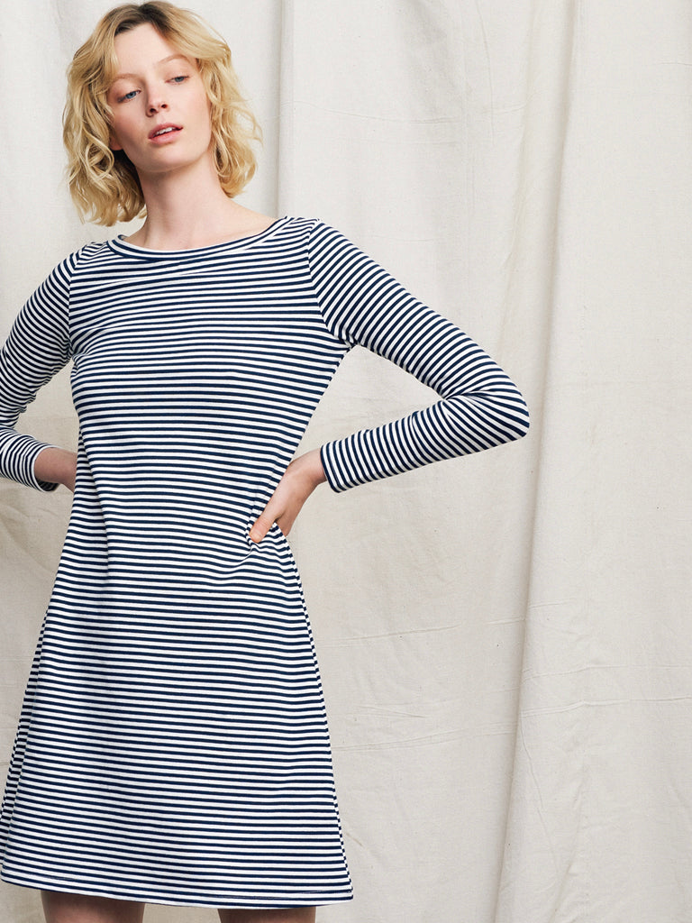 Lora Long Sleeve Dress Navy