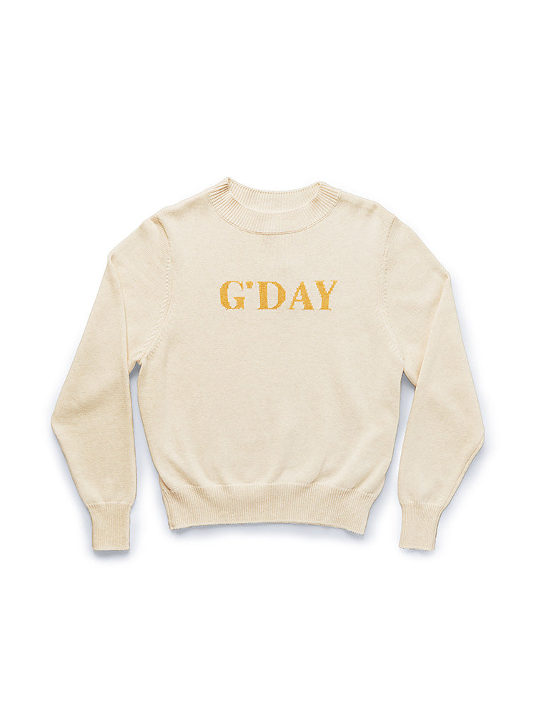 G'day Knit Sweater Wheat