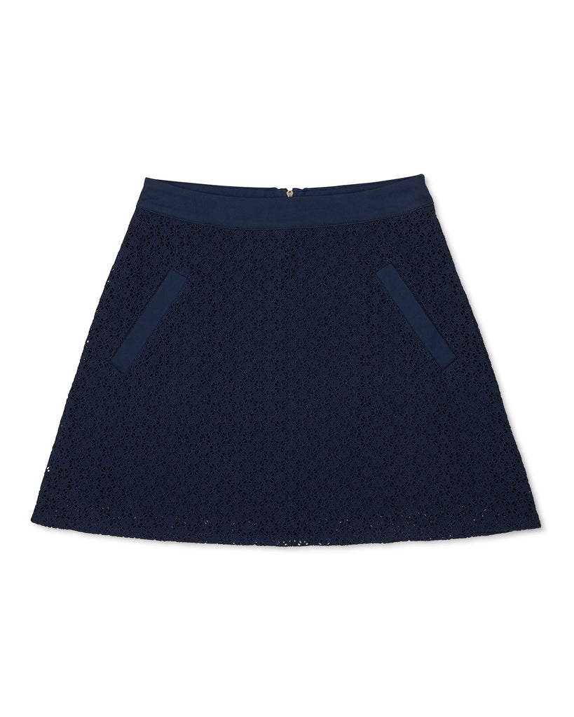 Montana Lace Skirt Navy