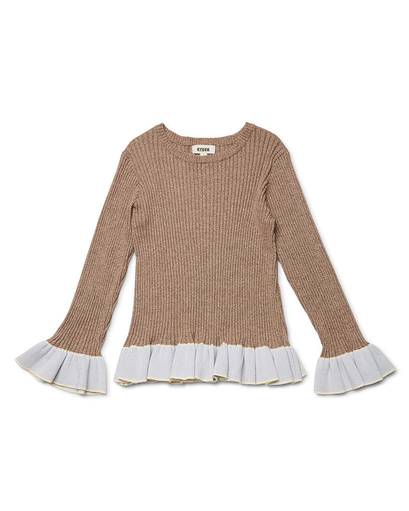 Rafa Rib Knit Sweater Coffee