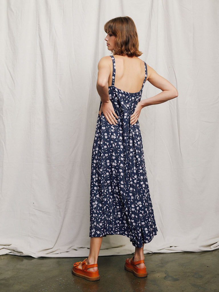 Remi Midi dress back view on model