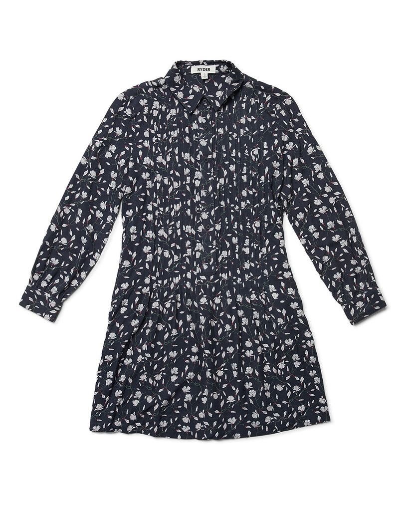 Matilda Shirt dress Marine Magnolia Print