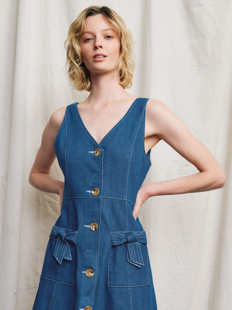 Luca Denim Midi Dress