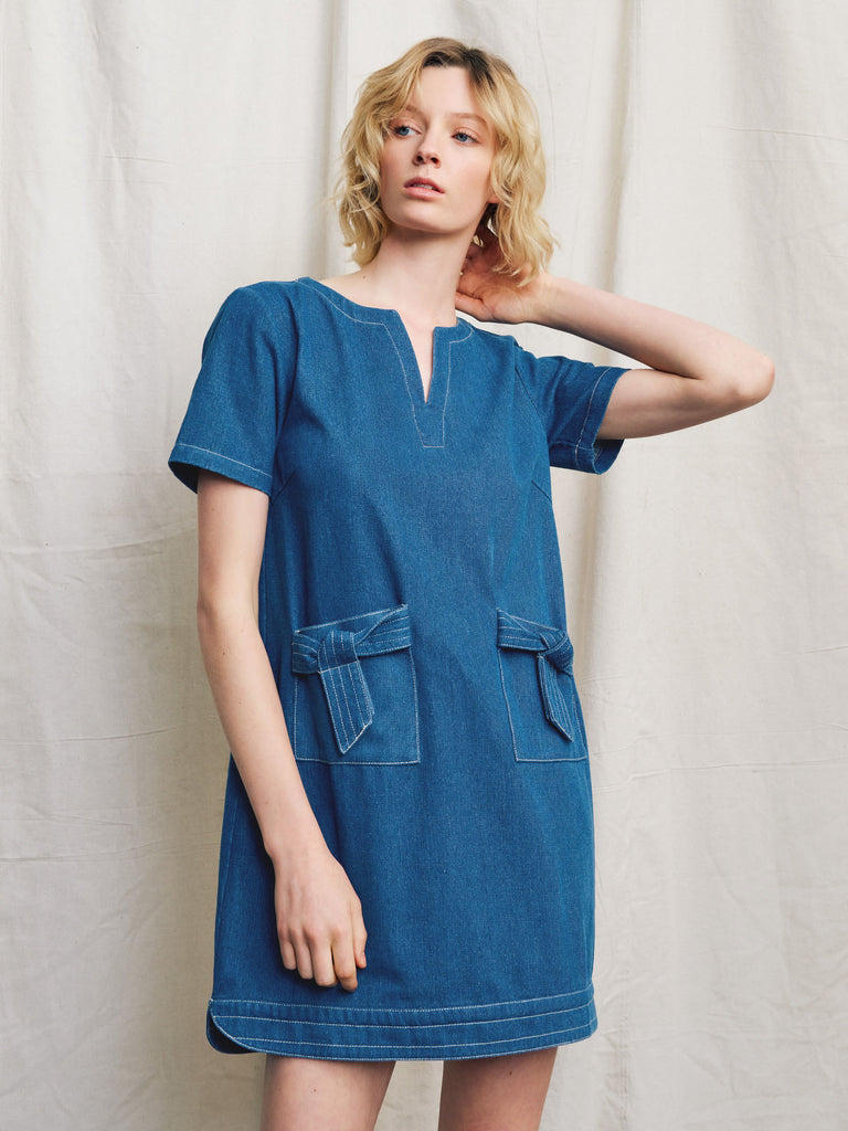 Luca Denim Shift Dress