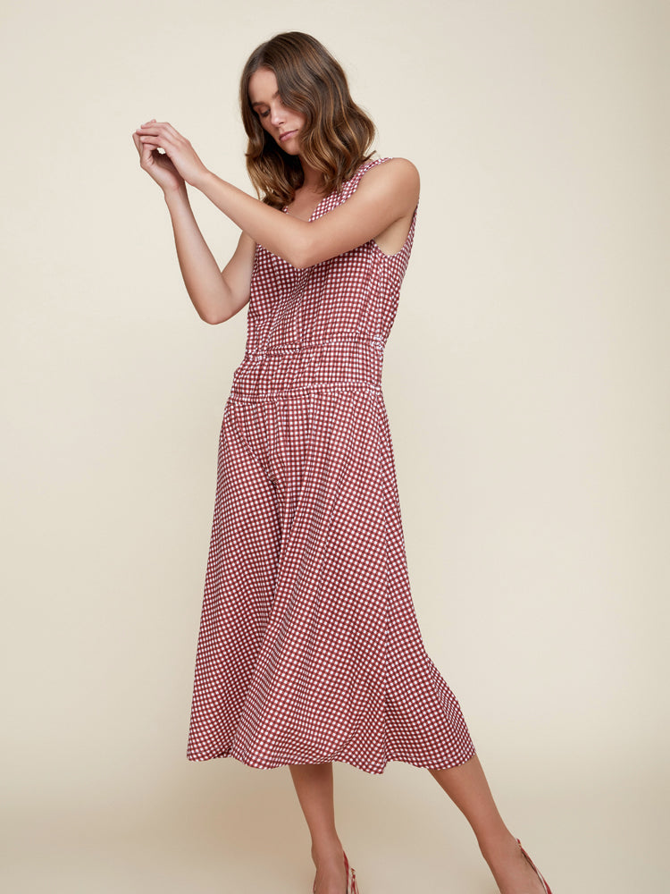 Lorilee Midi Dress Gingham