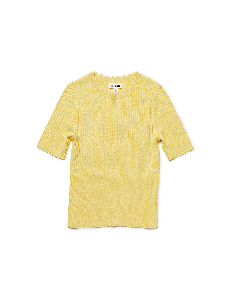 Cleo Knit Top Lemon