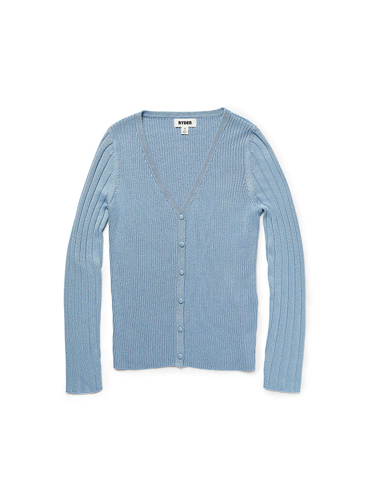 Daisy Knit Cardigan Blue