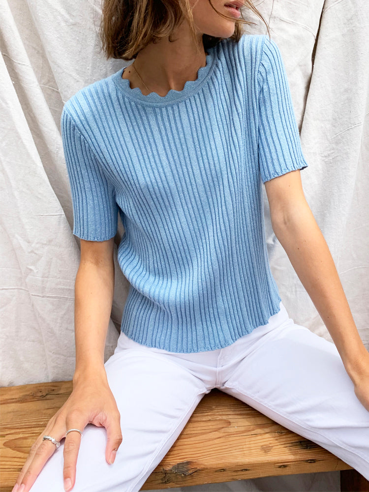Cleo Knit Top Blue