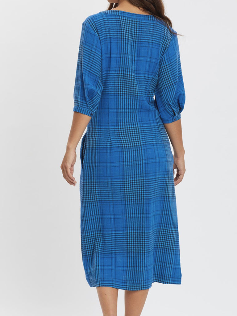 The Coco Dress Plaid by RYDER Linen