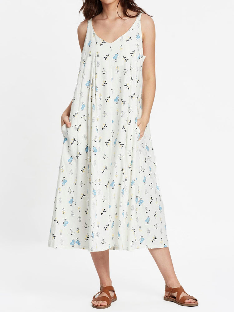 Remi Linen Midi Dress Wildflower