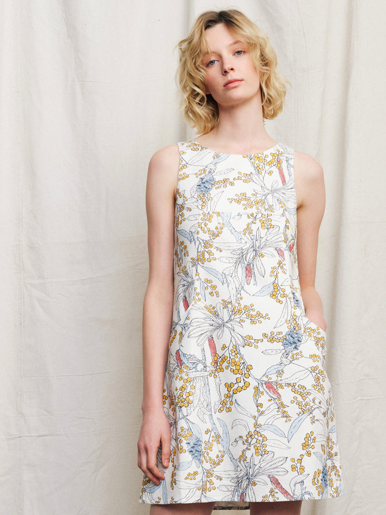 Luna Linen Dress Wattle