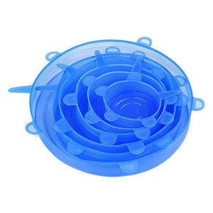 6 PCs Reusable Silicone Stretch Lids - giftitemsstore