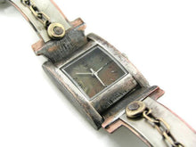 Load image into Gallery viewer, Women's silver & brass Watch, Multicolor Dial