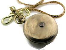 Load image into Gallery viewer, Mechanical brass Pocket Watch with blue Dial
