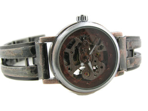 Small Automatic Mechanical Watch, copper Dial