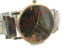 Load image into Gallery viewer, Silver & Brass Watch, Multicolor Dial