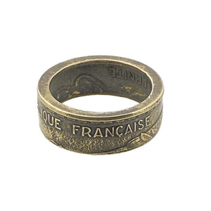 French Coin Ring -Size 5 1/2