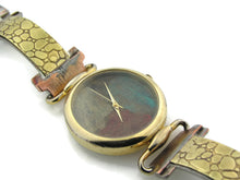 Load image into Gallery viewer, Brass Watch, multicolor Dial