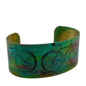 Bicycle Patina Cuff Bracelet