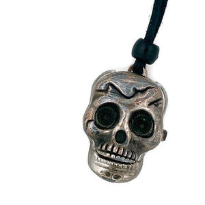 Skull Watch Pendant Necklace, Copper Dial