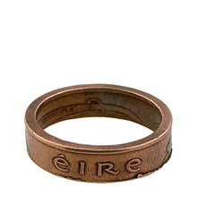 Load image into Gallery viewer, Copper Ireland Coin Ring Eire -Size 11