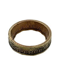 Load image into Gallery viewer, Three Pence Coin Ring -Size 5 1/2