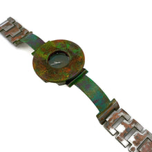 Load image into Gallery viewer, Women's Patina Watch with Antique Green Dial