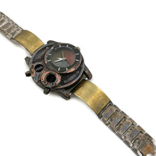 Load image into Gallery viewer, Men's Large Brass Watch with three tone Dial