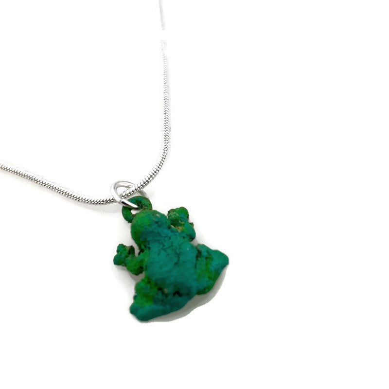 Frog Patina Necklace