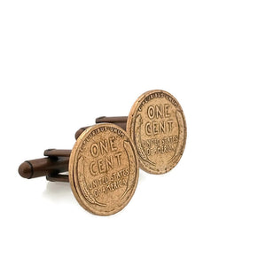 Wheat Penny Coin Cufflinks