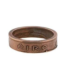 Copper Ireland Coin Ring Eire -Size 11