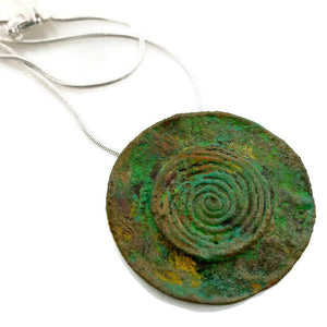 Circle Patina Necklace
