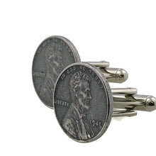 Load image into Gallery viewer, Steel Penny Coin Cufflinks
