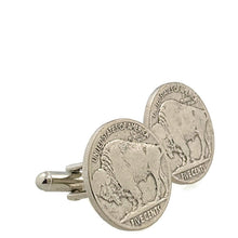 Load image into Gallery viewer, Buffalo Head Coin Cufflinks