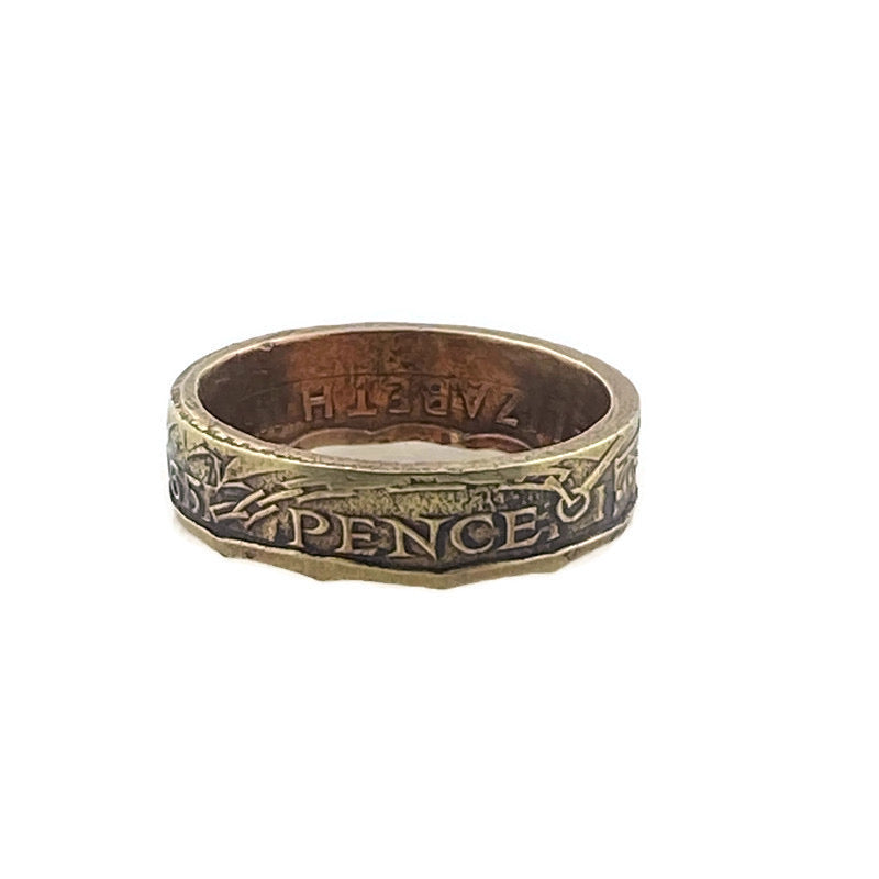 Three Pence Coin Ring -Size 5 1/2